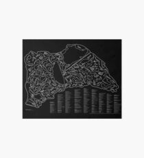 Race Tracks to Scale (Inverted) Art Board