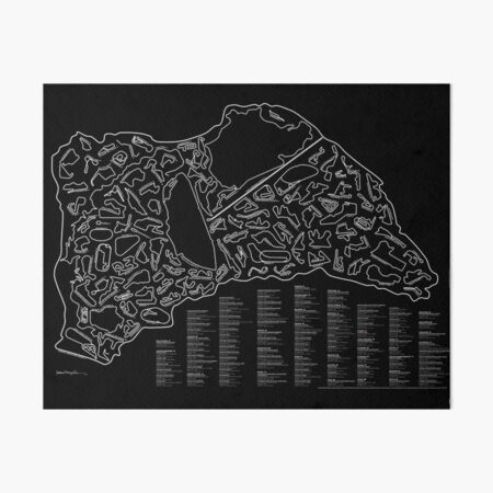 Race Tracks to Scale (Inverted) Art Board Print