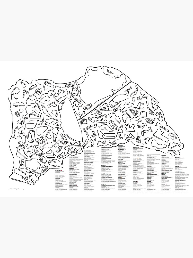 Race Tracks to Scale - Listed and Labelled by SirDunny
