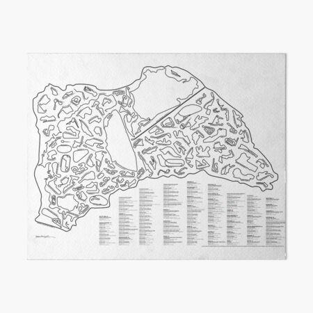 Race Tracks to Scale - Listed and Labelled Art Board Print