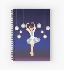 Ballerina dance on Christmas Eve  Spiral Notebook