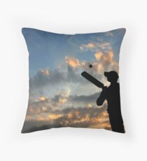 Batsman Throw Pillow