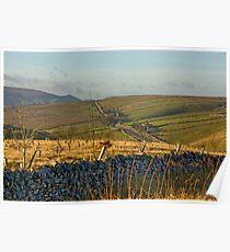 Looking Towards Hebden Moor Poster