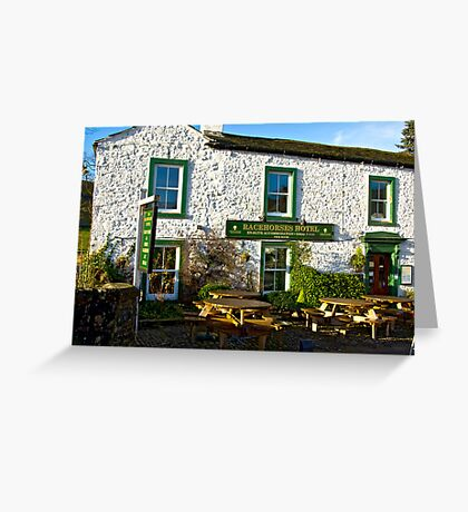 Racehorses Hotel - Kettlewell Greeting Card