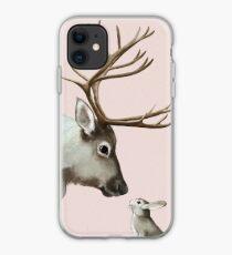 reindeer and rabbit iPhone Case