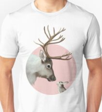 reindeer and rabbit Slim Fit T-Shirt
