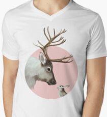 reindeer and rabbit V-Neck T-Shirt