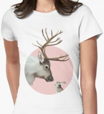 reindeer and rabbit Fitted T-Shirt