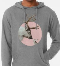reindeer and rabbit Lightweight Hoodie