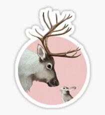 reindeer and rabbit Glossy Sticker