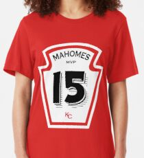 Patrick Mahomes Ketchup Bottle Slim Fit T-Shirt