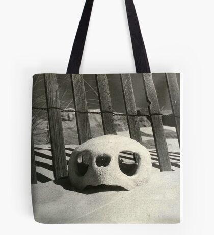 Turtle skull on beach Tote Bag