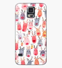Reindeers - Animal cuteness - Winter watercolor pattern - Rudolph Case/Skin for Samsung Galaxy