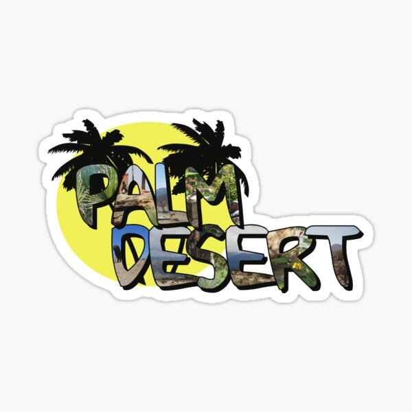 Palm Desert Large Letter with Moon Glossy Sticker