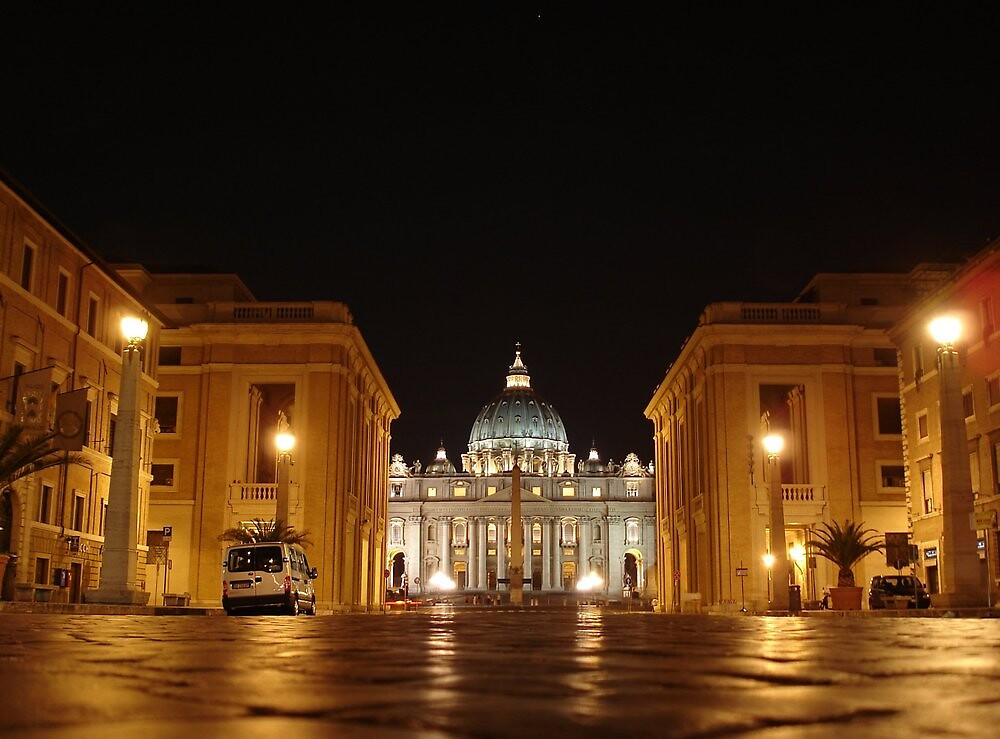 Evening prayer, St. Peter in Rome by Giovanni Vincenti