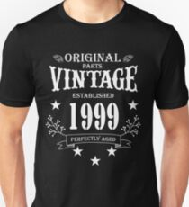 Original Parts Vintage Established 1999 Perfectly Aged Unisex T-Shirt