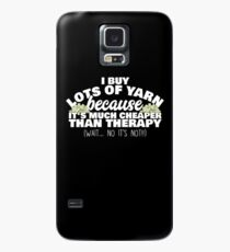 Knitting Is Cheaper Than Therapy Case/Skin for Samsung Galaxy