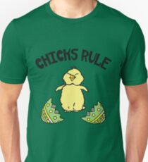 Easter Chicks Rule Unisex T-Shirt