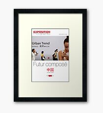 "Affiche - Expo Chine ""Futur composé"" - White Framed Print"