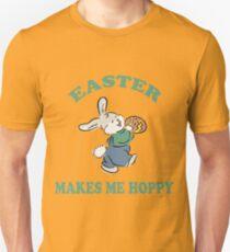 """Easter """"Easter Makes Me Hoppy"""" Unisex T-Shirt"""