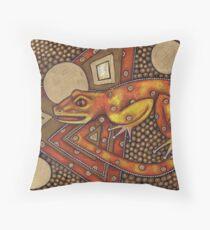 Avant! Gecko Throw Pillow