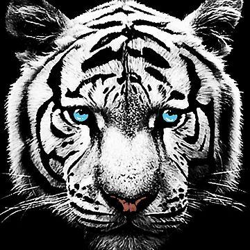 White Tiger T-Shirt, Hoodie by Adik