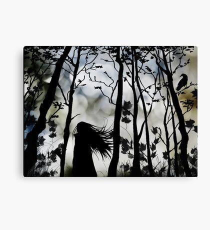 Dark Walk Canvas Print
