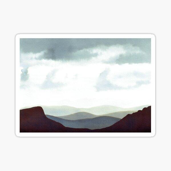 Montagnes Orage Sticker