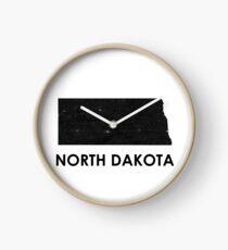 North Dakota Street Map Art Clock