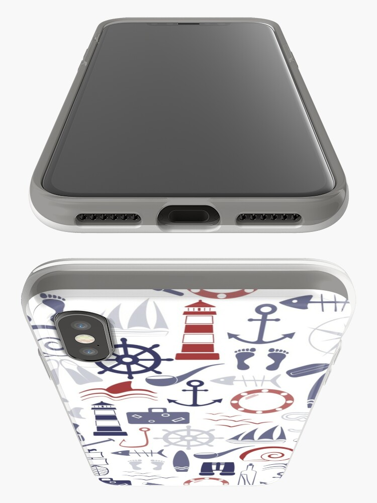 Alternate view of Trendy Maritime Pattern iPhone Case & Cover