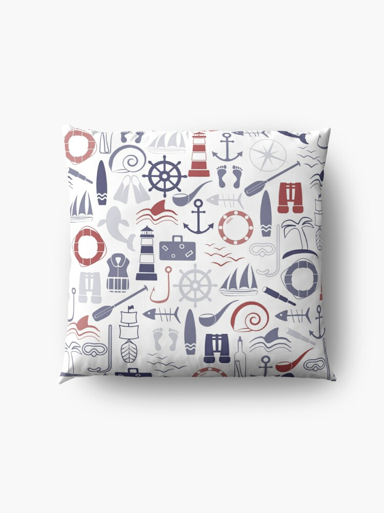 Alternate view of Trendy Maritime Pattern Floor Pillow