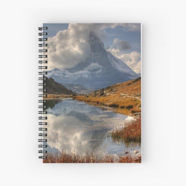 Matterhorn reflected in Lake, Zermatt Spiral Notebook
