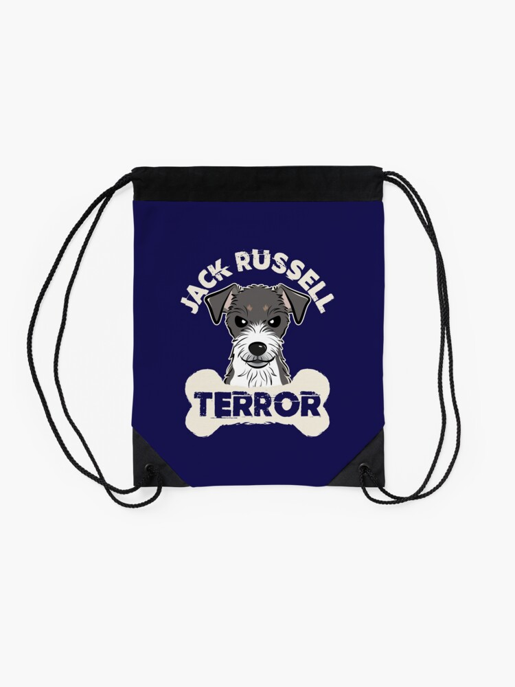 Drawstring Backpack Jack Russell Terrier Christmas Dog Xmas Shoulder Bags