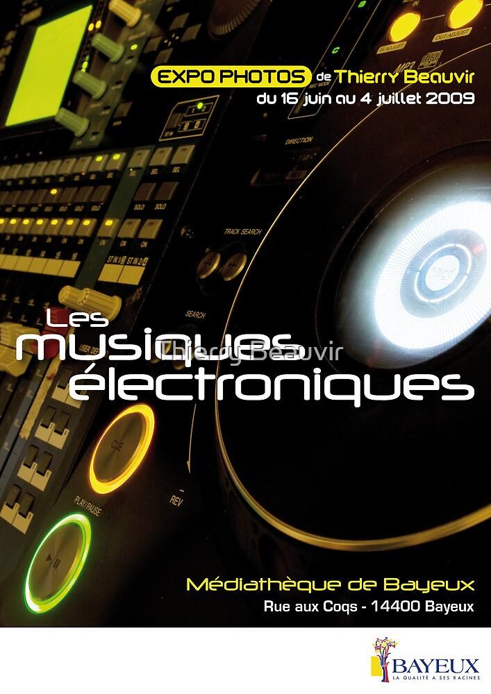 Affiche - Expo Les Musiques Eléctroniques by Thierry Beauvir