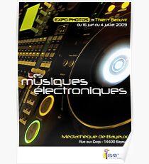 Affiche - Expo Les Musiques Eléctroniques Poster