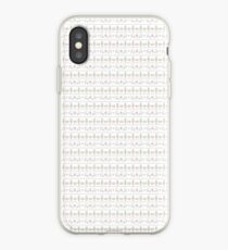 Pixel reindeer and Christmas tree pattern iPhone Case