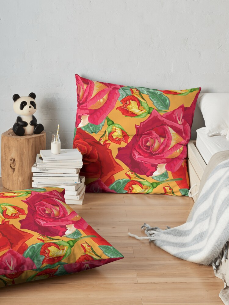 Alternate view of Trendy Floral Pattern Floor Pillow
