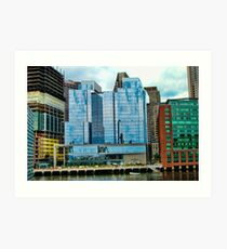 The City Glows Art Print