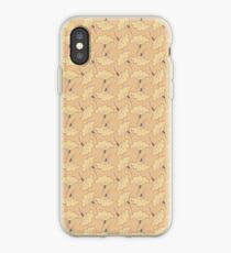 Japanese golden lily pattern iPhone Case