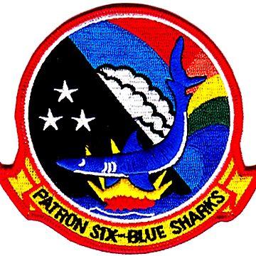 VP-6 Blue Sharks Crest by Quatrosales
