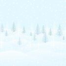 Frosty forest winter morning by runcatrun