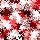 Red White Grey Black Abstract (5 of 6 please see notes)  by Ra12