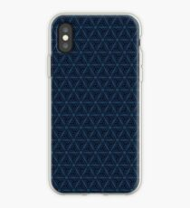 Winding triangle pattern iPhone Case