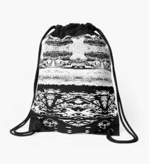 shadows in fractals Drawstring Bag