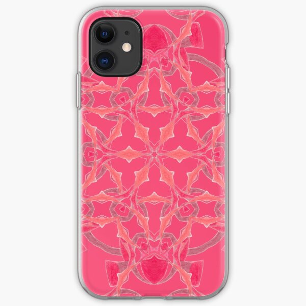 Red Over Twist Fall Into Winter Design Collection of Green Bee Mee iPhone Soft Case