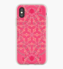 Red Over Twist Fall Into Winter Design Collection of Green Bee Mee iPhone Case
