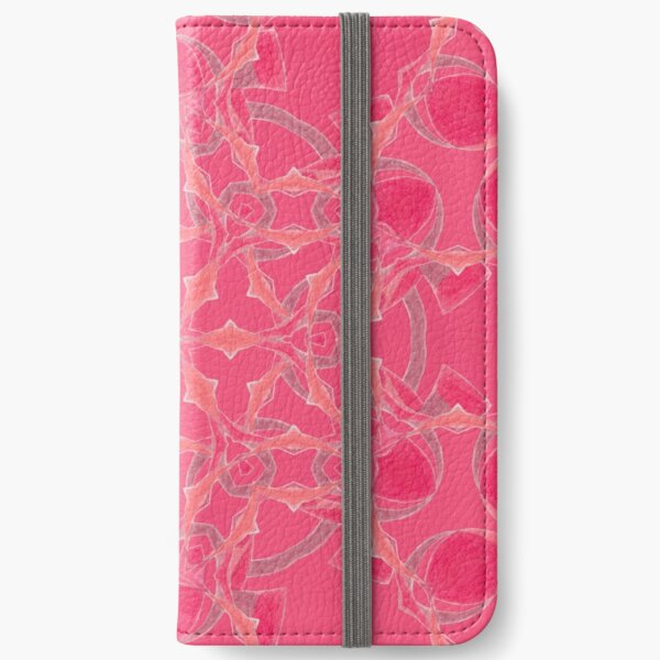 Red Over Twist Fall Into Winter Design Collection of Green Bee Mee iPhone Wallet