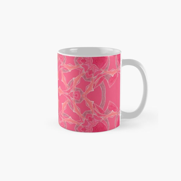 Red Over Twist Fall Into Winter Design Collection of Green Bee Mee Classic Mug