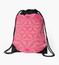 Red Over Twist Fall Into Winter Design Collection of Green Bee Mee Drawstring Bag