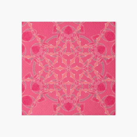 Red Over Twist Fall Into Winter Design Collection of Green Bee Mee Art Board Print